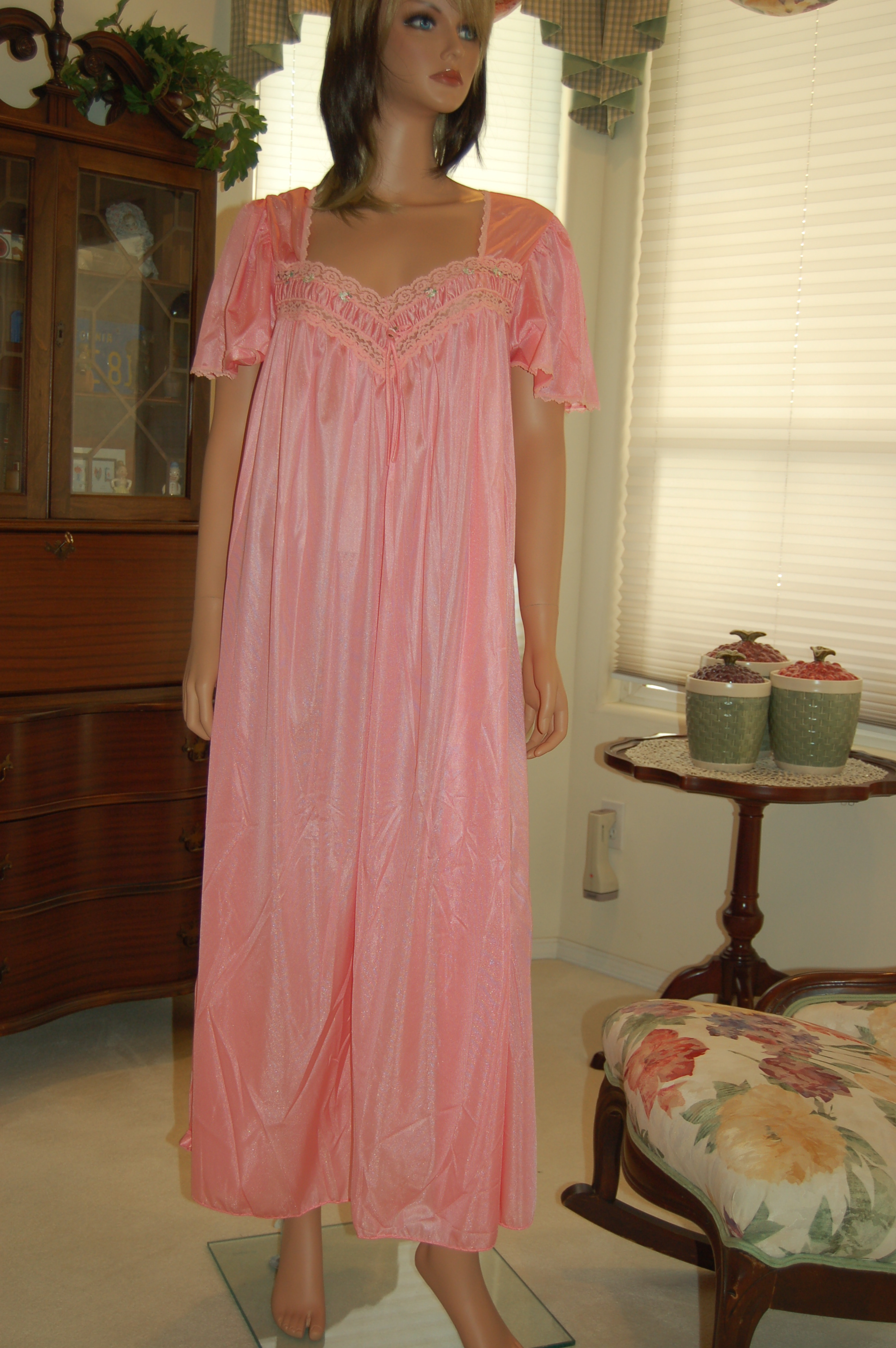 Women Within Nightgown. All nylon except for some trim 38bb26014
